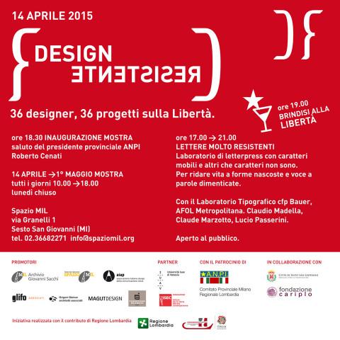 Invito mostra Design Resistente